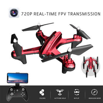 Fashion Cool Folding Drone WIFI FPV 640P/720P HD Camera Stable Gimbal Headless Mode 4CH 6-Axis One-button Take-off Quadcopter