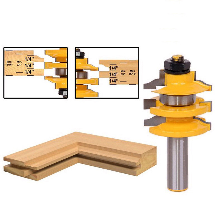 Freeshipping High quality grade alloy Rail and Stile Router Bit Ogee Stacked 1/2-Inch Shank Woodworking Wood Tool 1pc 1 4 shank high quality roman ogee edging and molding router bit wood cutting tool woodworking router bits chwjw 13180q