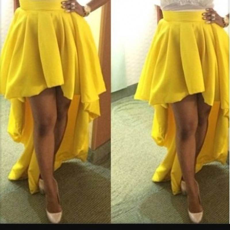 Online Get Cheap Yellow High Low Skirt -Aliexpress.com | Alibaba Group