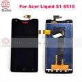 Substituição de tela lcd para acer liquid s1 s510 display lcd com tela de toque digitador assembléia qualidade superior