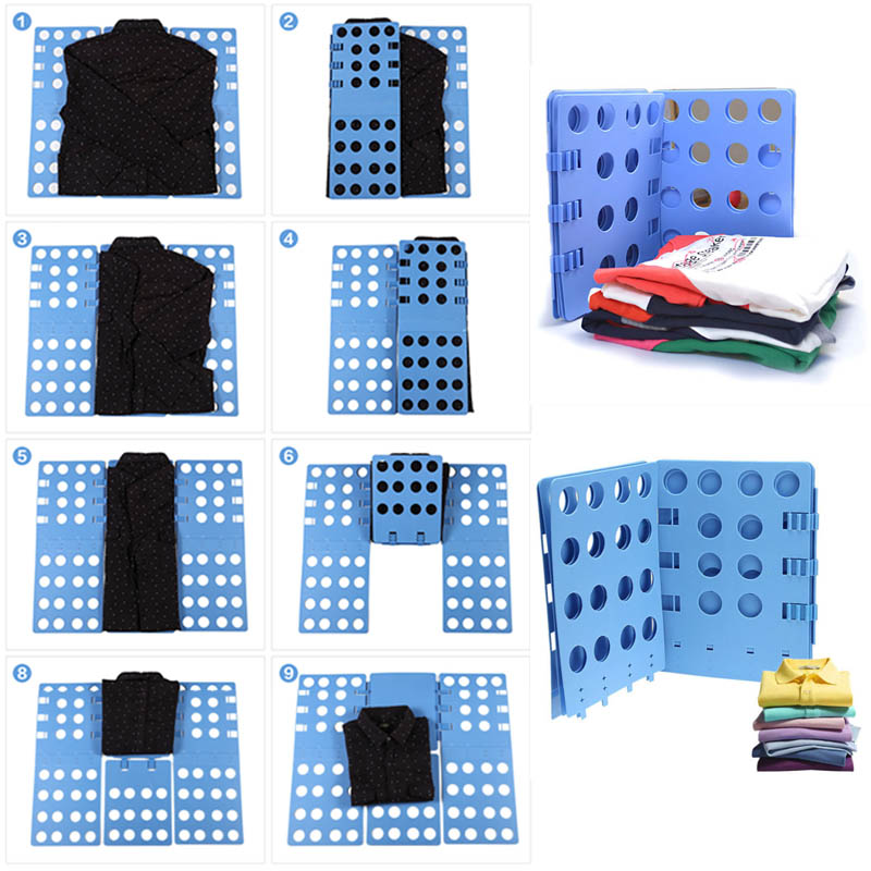 Creative Clothes T Shirt Top Folder Magic Flip Folding Board for Children Organizer Lazy Supplies Random Color Laundry