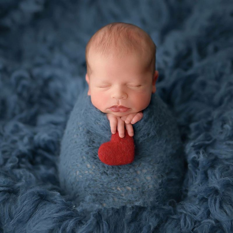 5cm Newborn Photography Felt Love Shape Props Tiny Baby Girl Boy Photo Shoot Handmade Felt Heart Shaped Props