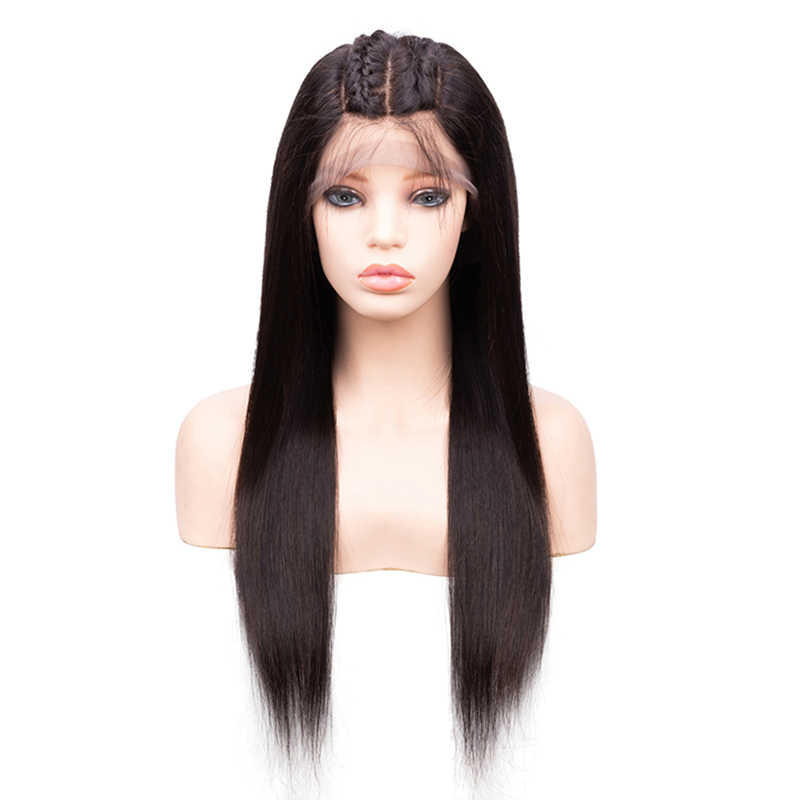 Sevengirls Full Lace Human Hair Wigs With 4.5*5 Silk Base Closure Middle Ratio Brazilian Natural Color Straight Remy Hair Wig