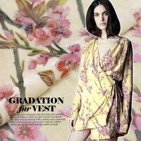 Burnt true arrival of spring flowers fabric velvet cheongsam dress shirt silk Burnt-out velvet curtain fabric Free shipping