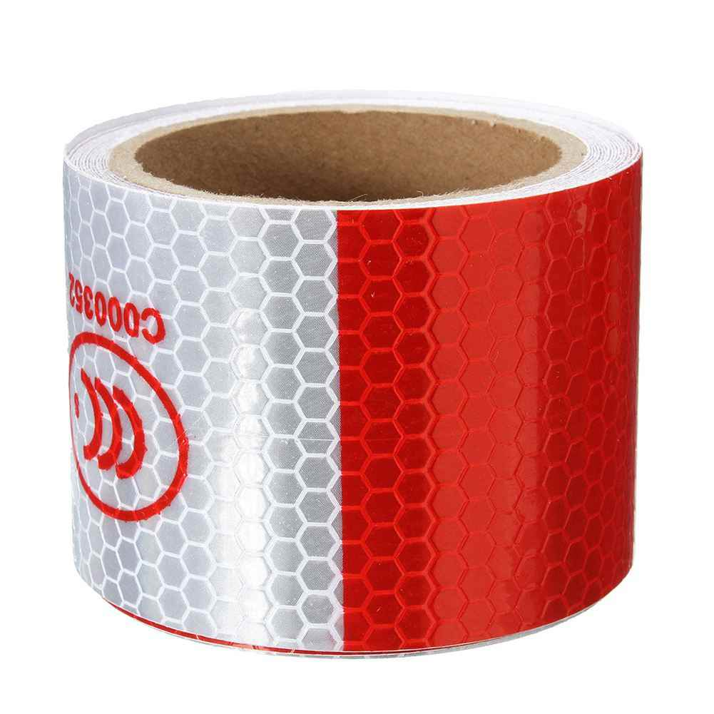 2 inch x 10ft 3 Meters Night Reflective Safety Warning white red Tape Strip Sticker