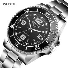 WLISTH Mens Quartz Watches 2019 Luxury Brand Business Fashion Watch Luminous Calendar Waterproof Men Clock Relogio Masculino