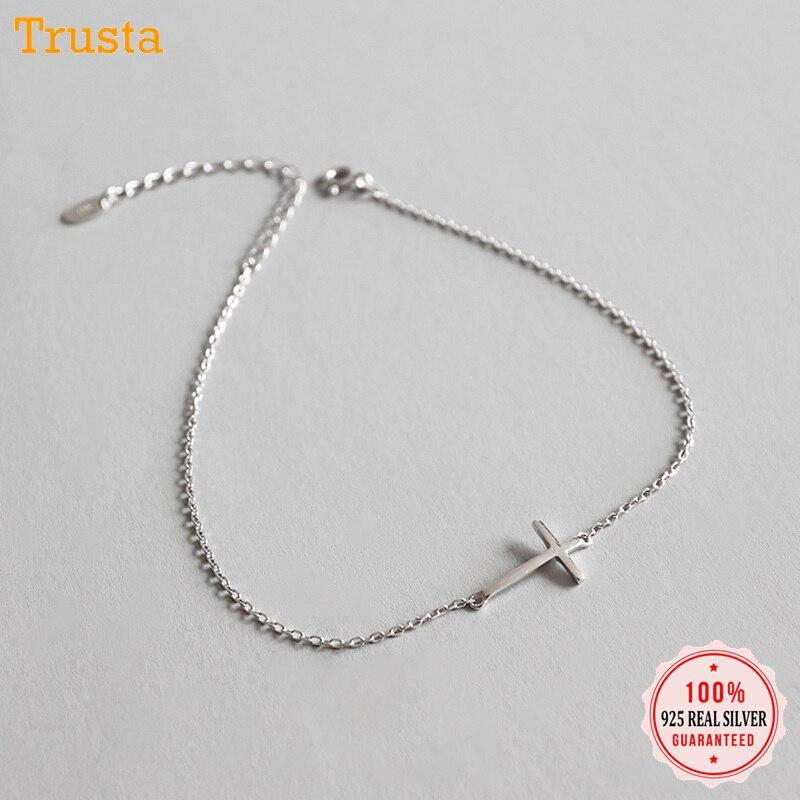 316e875e3d1b Trustdavis 100% maciza 925 plata esterlina Real de las mujeres de la moda  joyería de pulsera 15