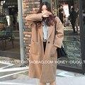 Casual Mulheres Manga Comprida Trench Coat Plus Size Sólido Longo casaco Sobretudo 2 Cores Mulheres Casaco de Primavera Casaco Feminino Trincheira casaco