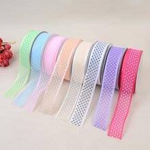 New Printed Ribbon Satin Belt 2.5cm*20 Yards Ultrasonic Embossed Headband Clothing Crafts Accessories Decorative Tape