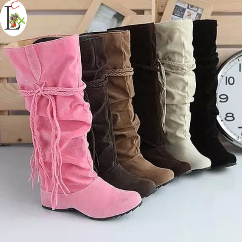 цены  Shoes women boots autumn and winter snow boots ladies sexy Knee high boot big size 34-43 Hot 2015 Fashion newest Free shipping