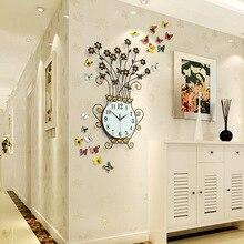 76*49CM The Sitting Room Art Wall Clock Modern Creative European Quartz Bracket Clock