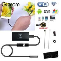 Gizcam Wifi For IOS Android Endoscope Borescope HD 2 0MP 8mm 1M 6LED Tube Waterproof Video
