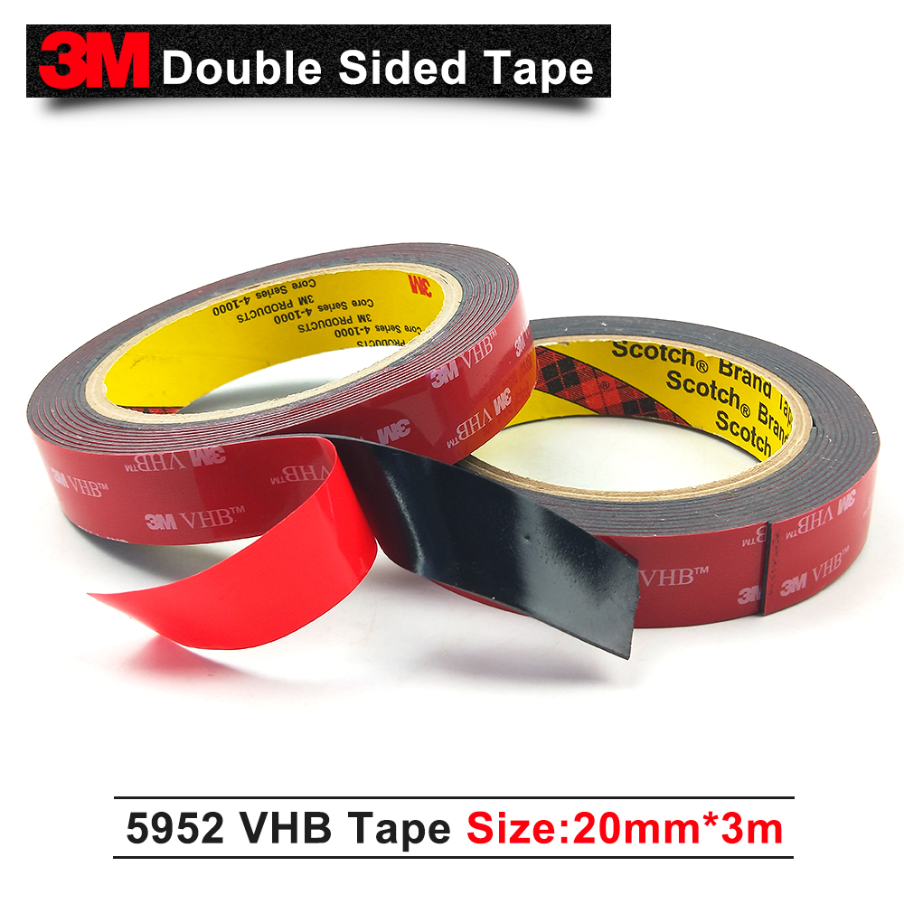 1mm Thick BLACK ~ 3M VHB Acrylic PADS Foam Tape ~ DIY ELECTRONICS /& CAR REPAIRS