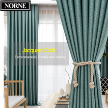 NORNE Geometric Jacquard Thick Thermal Insulated Room Darkening Curtains Blinds Panel for Bedroom Living Room Drapes Custom Made norne 30