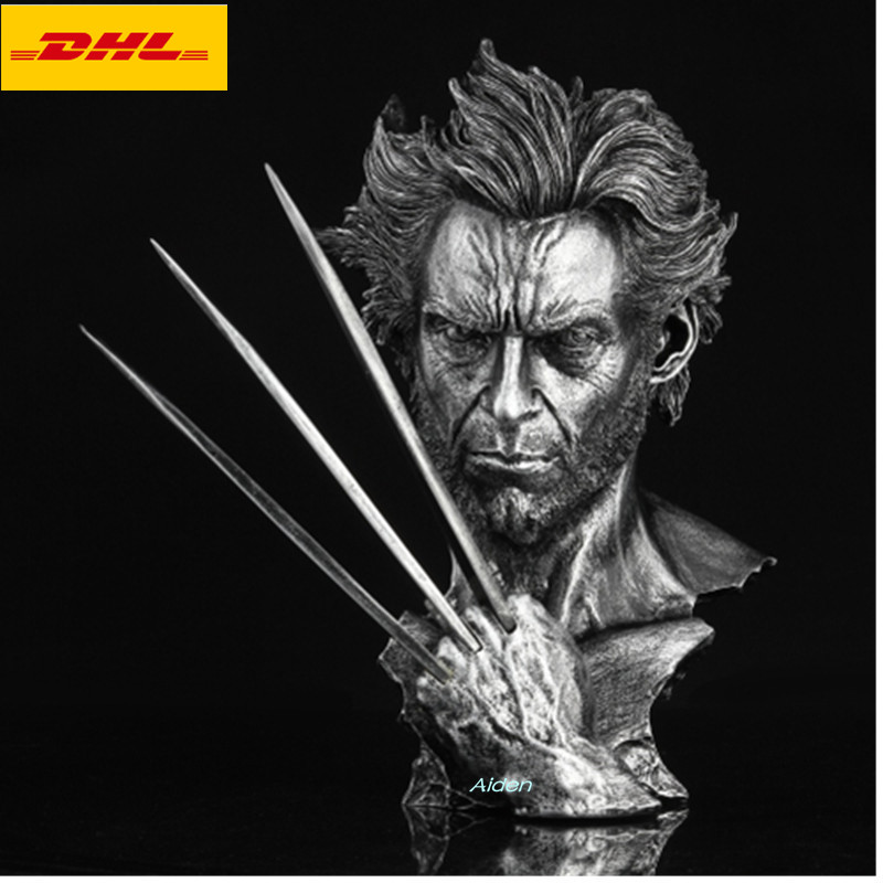 13 Statue Head Portrait X Men Wolverine Bust Hugh Jackman Half Length Photo Or Portrait GK Action Figure Toy BOX 32CM B481
