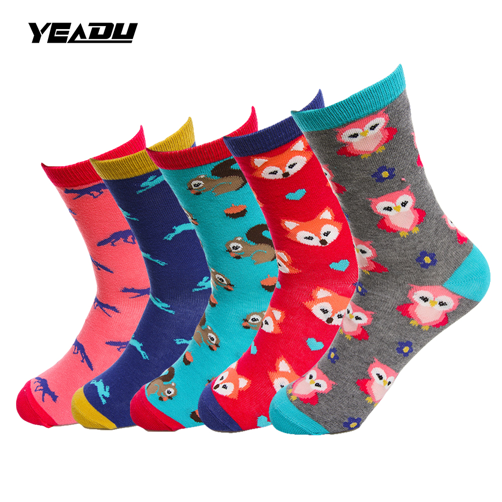 Underwear & Sleepwears Yeadu 12 Colors Harajuku Women&mens Socks Cotton Funny Cute Novelty Dress Crew Sock Suitable For Men And Women Of All Ages In All Seasons