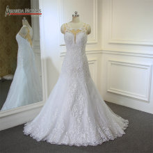 AMANDA NOVIAS Shinny Heavy Beaded Wedding Dress A-line