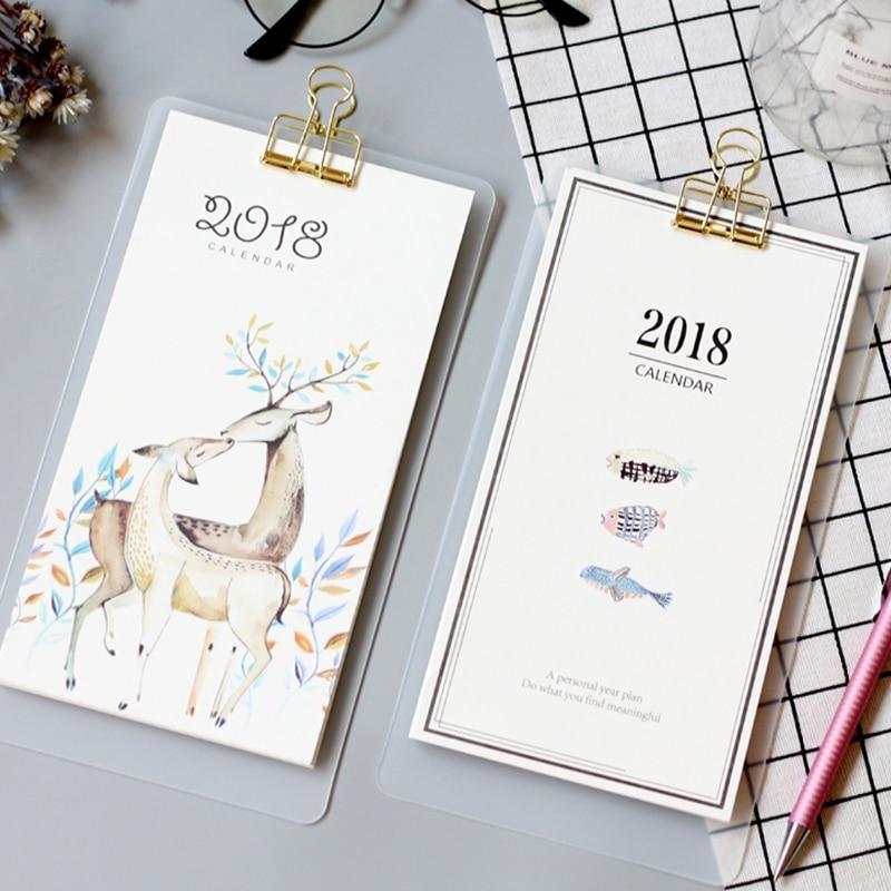 2018 menu style calendar creative diy hand painted notes