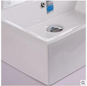 White Basin Lavabo That Defend Bath Ceramic Face Basin Stage Basin Square Simple Wash Face Basin Sink