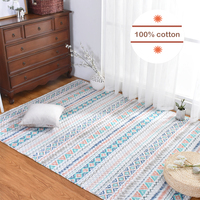 Infant Shining American All Cotton Rug Baby and Adult Non slip Mat Tatami Living Room Bedroom Carpet Machine Washable Mat
