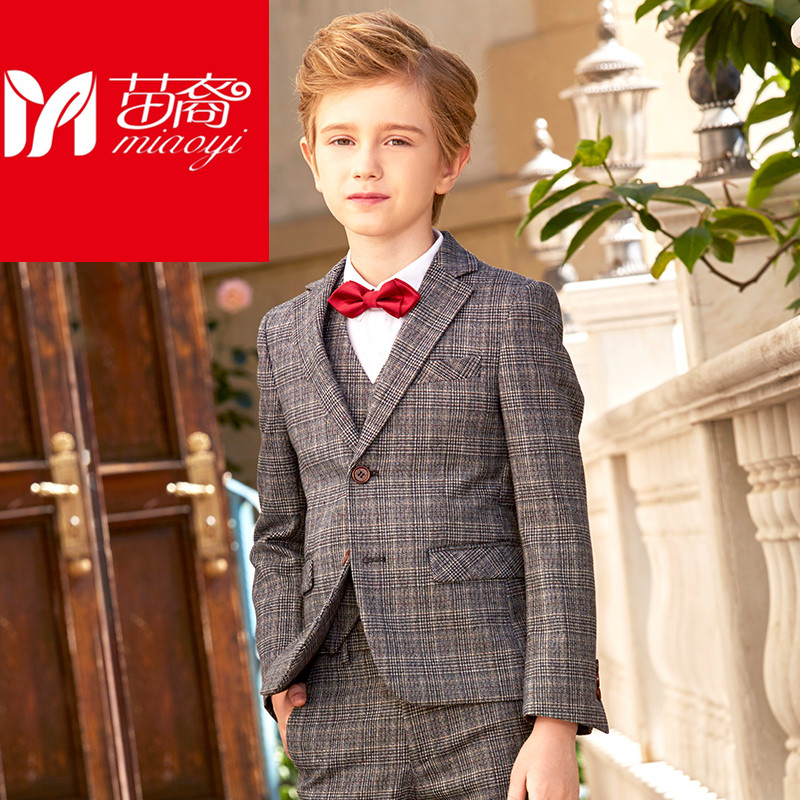 4 to15 years old new 2017 autumn boys high quality gentlemen blazer clothing sets  boys full dress clothes set boys dress suit high quality new full set replacement