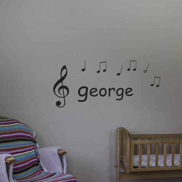Musical Notes Wall Art Decals Bedroom Living Room Removable ...