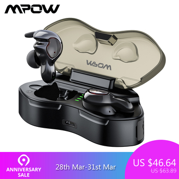 Mpow T7 TWS Bluetooth 5.0 Earphones Wireless Earphone IPX5 Waterproof Earbuds With Mic And Charging Case For Xiaomi Smartphone