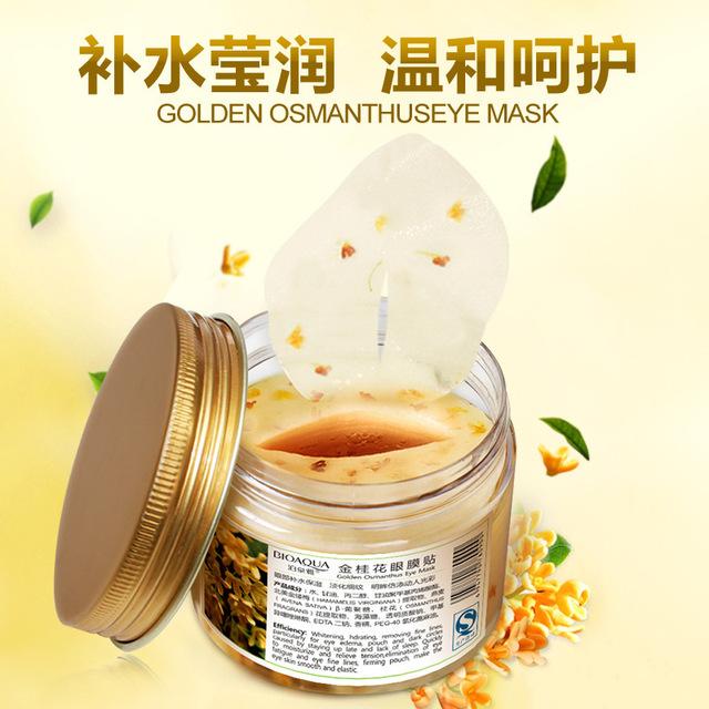 BIOAQUA Oro Osmanthus Máscara Publicado 80 Cuidado de Los Ojos Hidratante Fade Líneas Finas Para Patrón Bolsas Ojeras Ojo Calmante Máscara