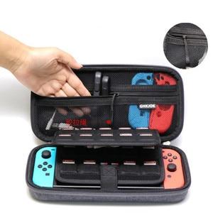 Image 3 - 닌텐도 스위치 콘솔에 대 한 휴대용 케이스 eva 캐리 게임 스토리지 여행 가방 nitendo 스위치 ns 액세서리에 대 한 하드 쉘 주머니