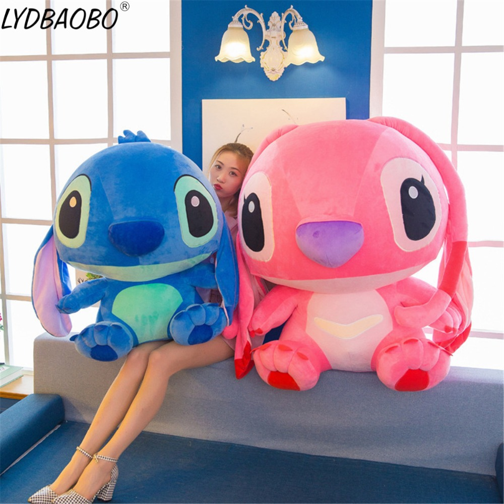 1PC 35/45CM Stitch Plush Toys For Kids Stuffed Animals Anime Lilo And Stitch Creative Valentine's Day Birthday Gifts Soft Pillow