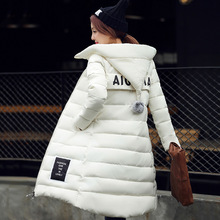 2016 Winter New Women cotton Jacket Thick Warm Hooded Long section Down Cotton-padded Jacket Parka Slim Coat Plus Size