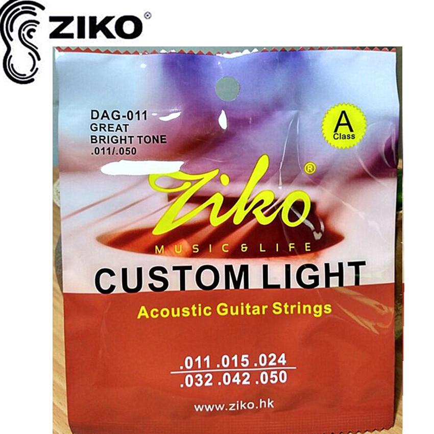 ZIKO 011-050 DAG-011 מיתרים לגיטרה אקוסטית - כלי נגינה
