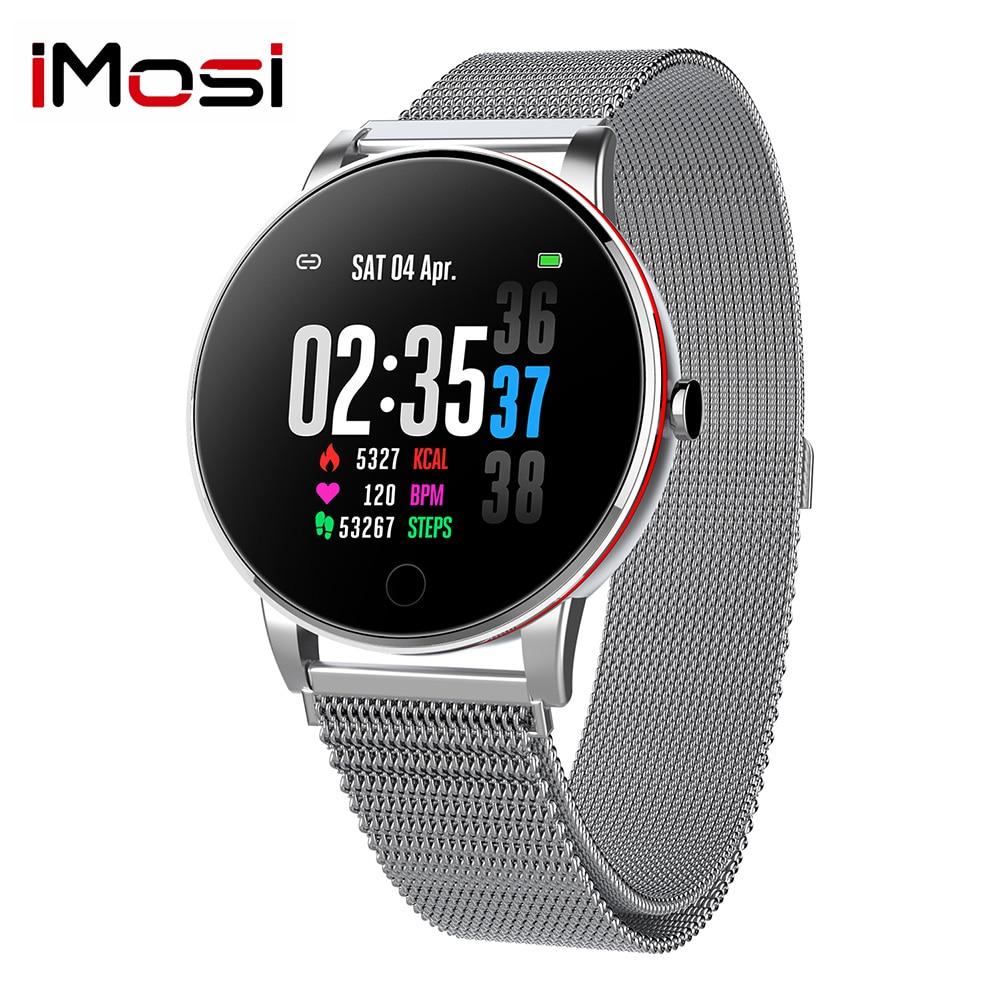 טלוויזיות 25-29 Imosi ש 19 Smart שעוני IP68 Smartwatch Waterproof נשי אופנת כושר מעקב לחץ דם ודופק צג להקה חכמה (1)