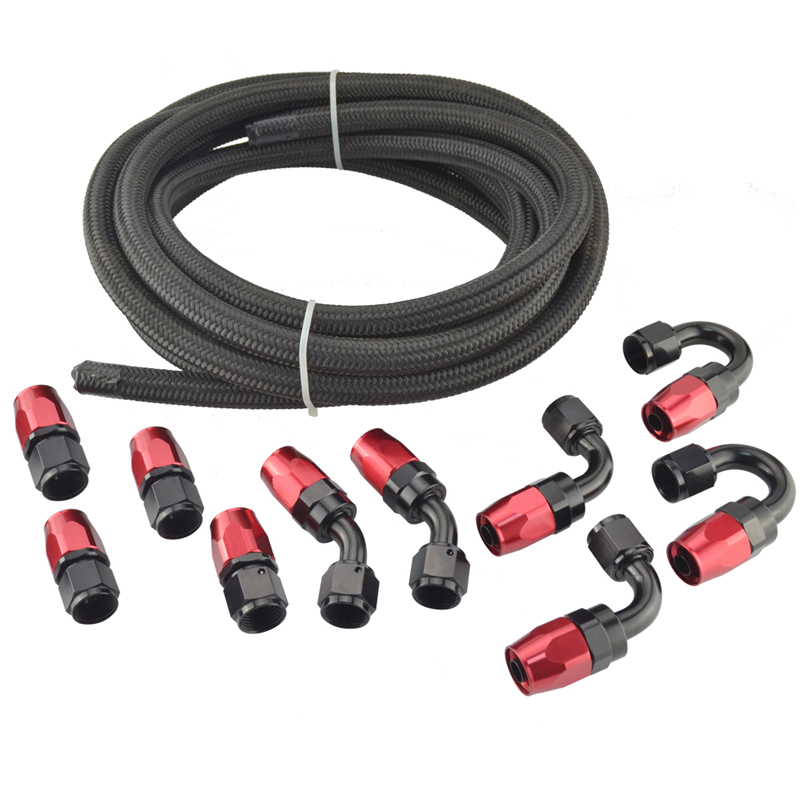 An nylon stainless steel braided hose fittings end