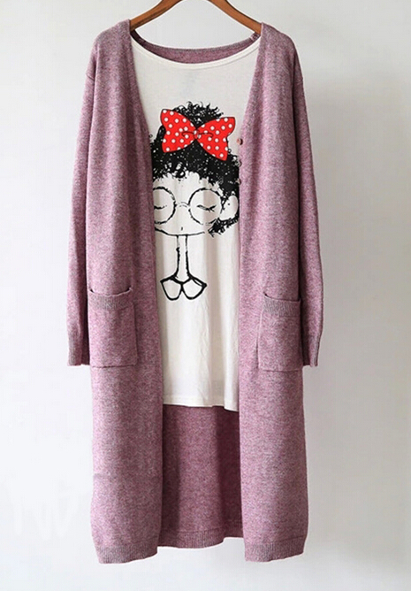 Aliexpress.com : Buy Full length long cardigan sweater coat nice ...