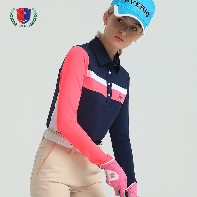 EVERIO Autumn Winter New Top Shirt Golf Lady Long Sleeved TShirt Quick Dry Breathable Casual Sportswear Women Girl Tennis Shirt
