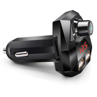 fm משדר Bluetooth גרסה 3.0 Hands לרכב חינם אלחוטי Bluetooth FM משדר מסך LED USB מטען נגן MP3 USB Chargesr # YL6 (2)