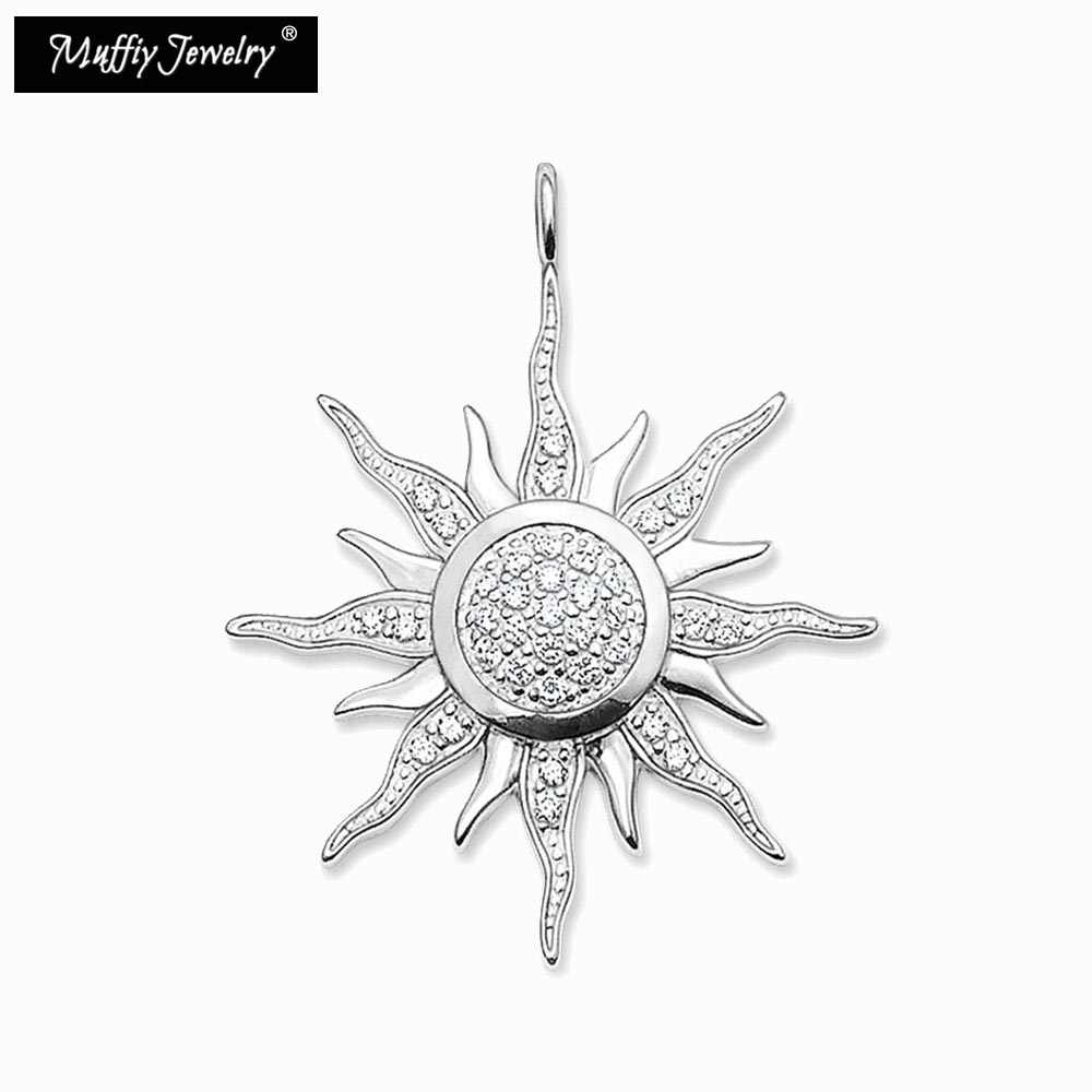 Sun Pendant,Thomas Style Glam Fashion Good Jewerly For Women,2017 Ts Gift In 925 Sterling Silver & Zirconia,Super Deals