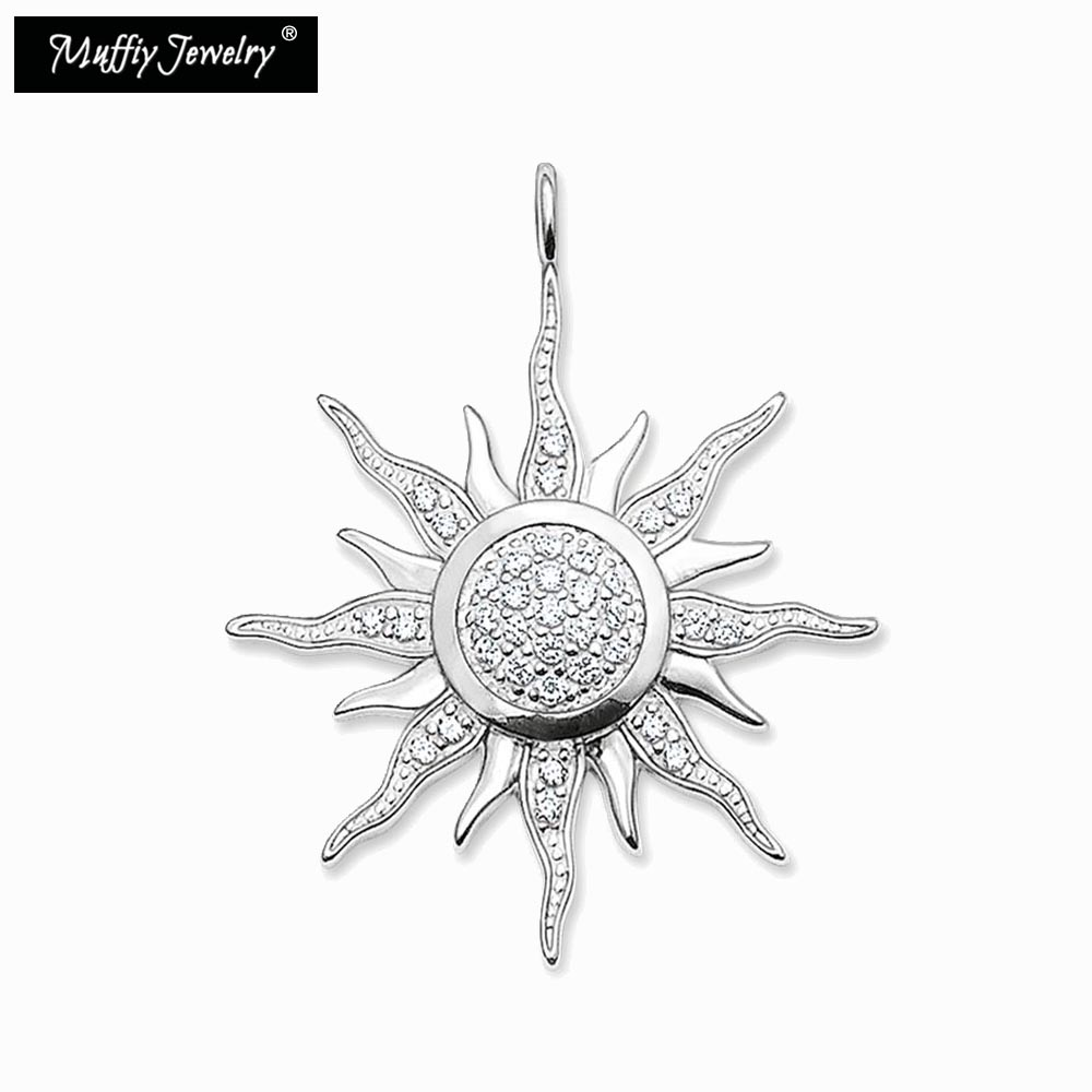 Rational Sonne Anhänger Thomas Stil Glam Fashion Gute Jewerly Für Frauen Super Angebote Attraktive Mode 2017 Ts Geschenk In 925 Sterling Silber & Zirkonia