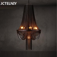Loft creative personality retro industrial heavy metal bar The cafe bicycle chain pendant lamp