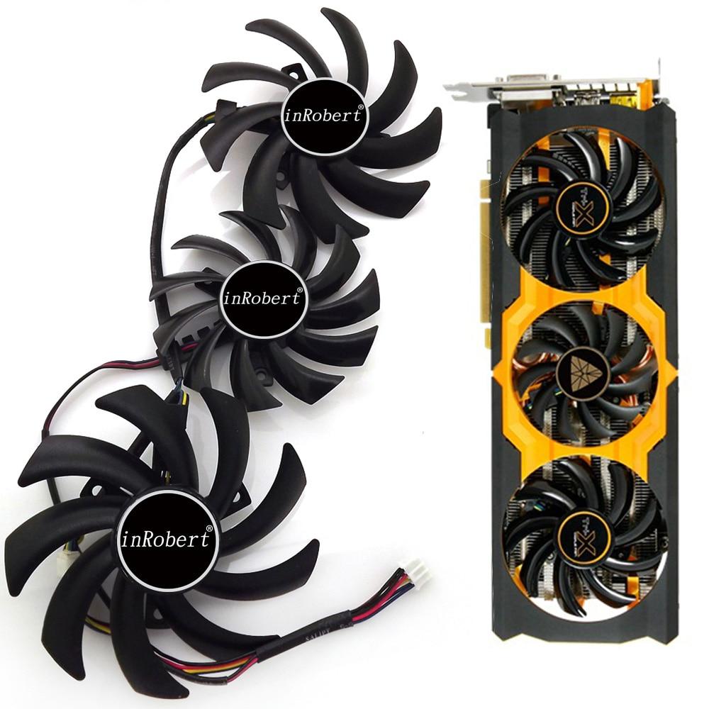 Poder lógica PLD09210D12HH PLD08010S12HH 4Pin para zafiro R9 270X 280X 290X 370X Vapor-X OC tóxicos gráficos de refrigeración ventilador