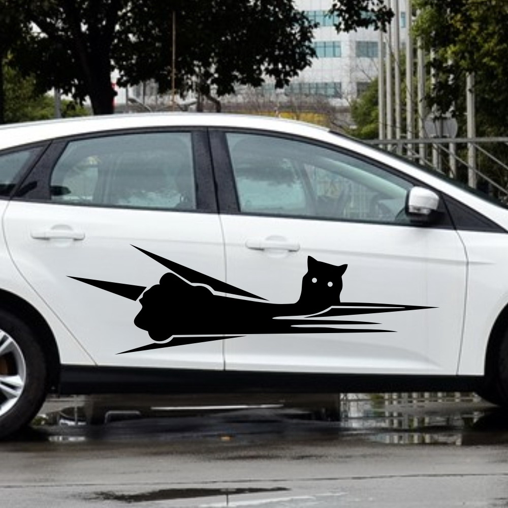 Mobil Burung Hantu Garis Animal 65 Pintu Stiker Untuk Fokus