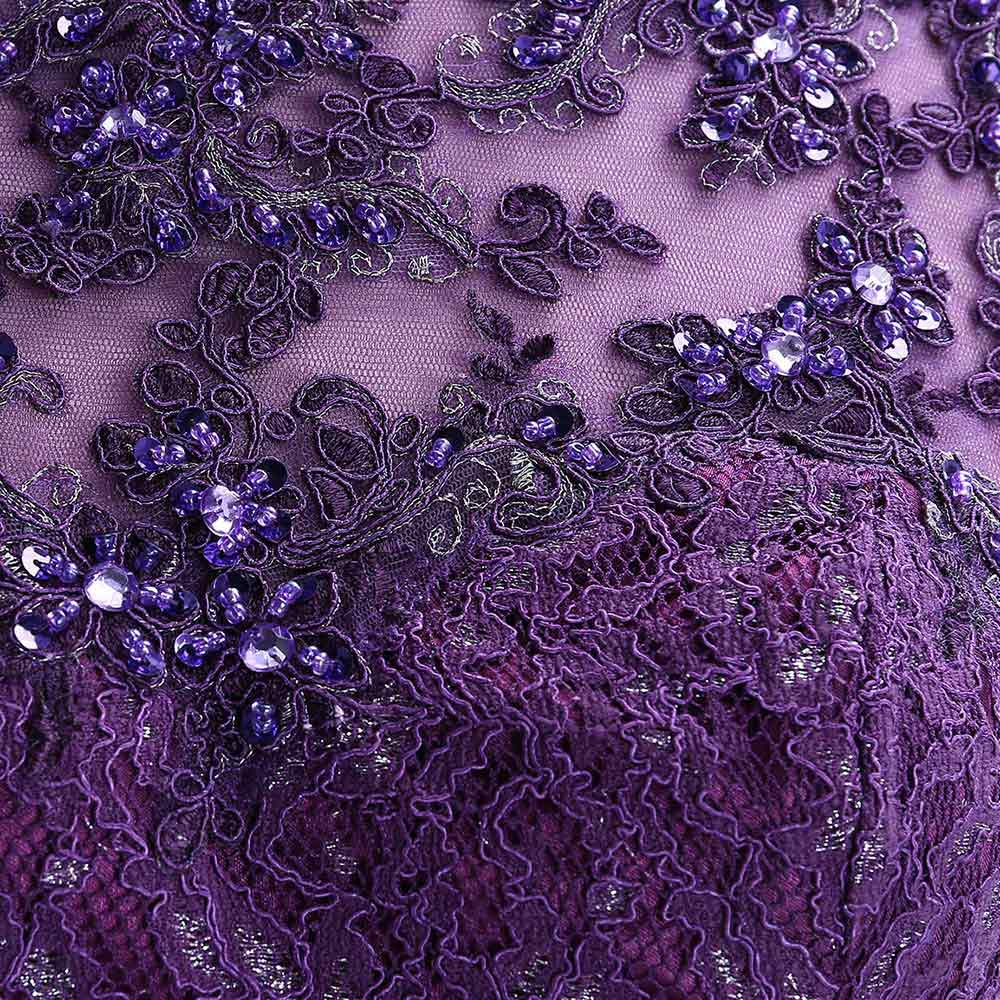 Image 5 - Cute Short Purple Homecoming Dress 2019 Mini Beaded Lace Homecoming Dress Tulle Homecoming Gown Crystal Cheap Graduation Dress-in Homecoming Dresses from Weddings & Events