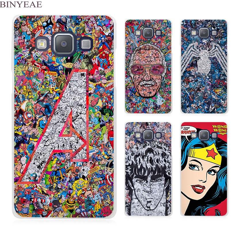 Binyeae Superheros Wonder Woman прозрачный сотовый телефон чехол для Samsung Galaxy A3 A5 A7 A8 A9 2016 2017