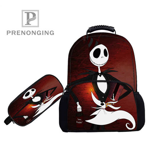 Personnalisé 17 inchjackskellingtonsacs à dos stylo sacs impression 3D école femmes hommes voyage sacs garçons filles livre ordinateurs sac #1031-2-32