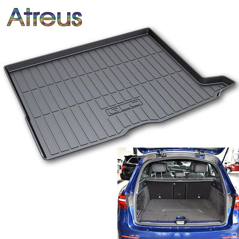 Atreus Car Rear Trunk Floor Mat Durable Carpet For Mercedes Benz GLK GLC GLA E C Class Boot Liner Tray Waterproof Anti-slip mat обувь shoiberg