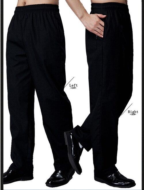 Ropa Especializada Pantalones Para Chef Negro De Cintura Elastica Ropa Lekabobgrill Com