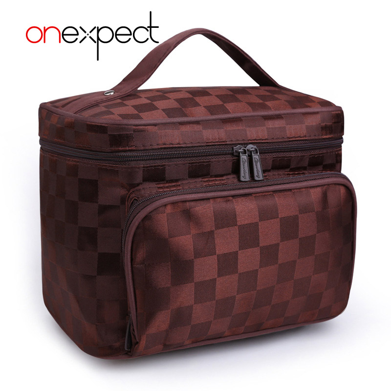 onexpect 2018 Luxury Cosmetic Bag Professional Makeup Bag Travel Organizer Case Beauty Necessary Make up Storage Beautician Box