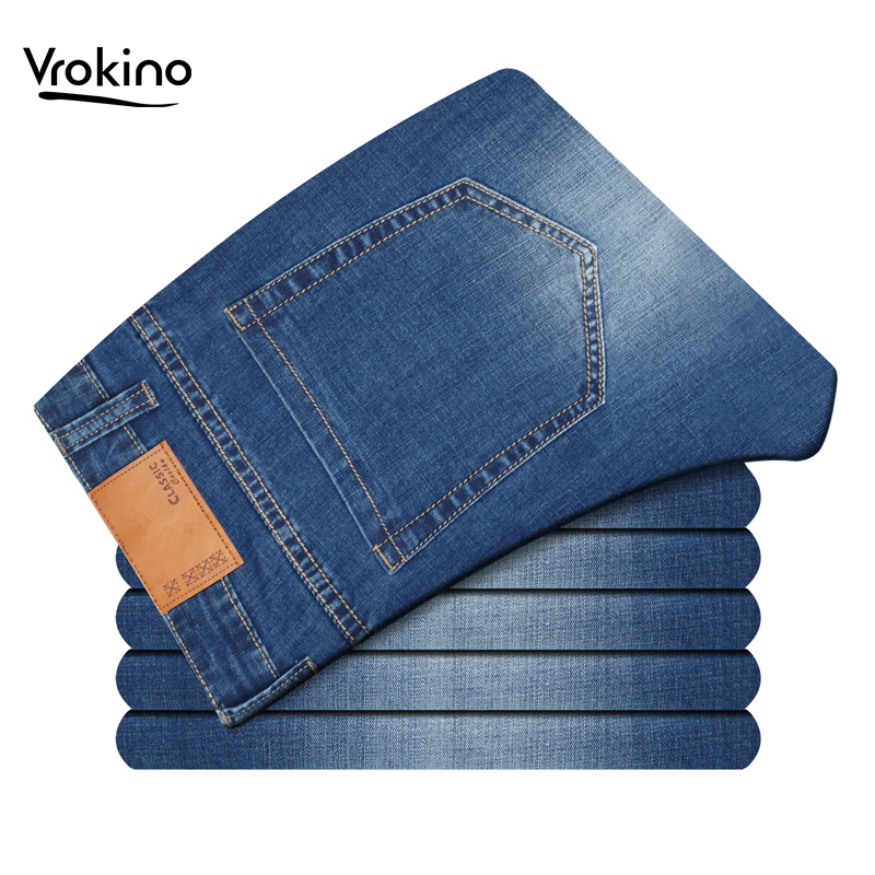 2019 New Autumn And Winter Men's Jeans Men's Straight Loose Stretch Jeans Men's Extra Size Casual Jeans 44 46 48