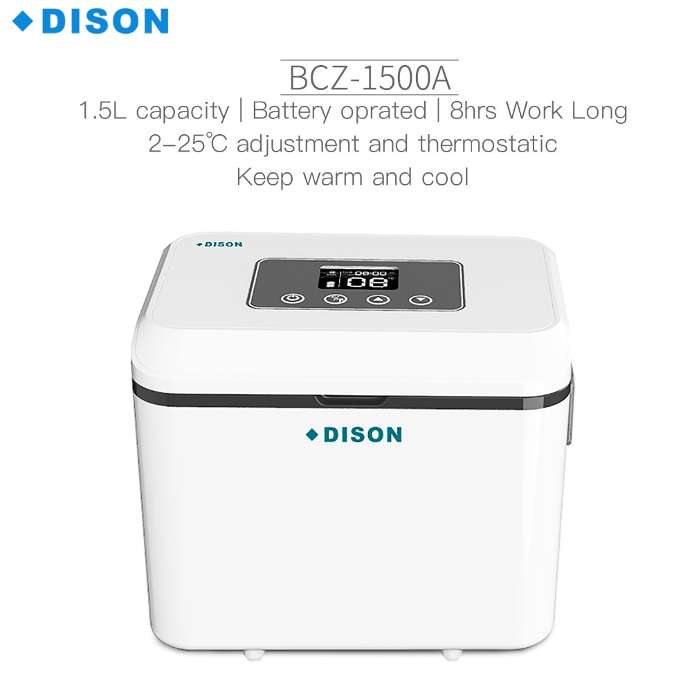 Dison insulin refrigerator Portable With Shoulder Blood Insulin Cooler Box Vaccine Carrier Mini Fridge Refrigerator dison hot sale display refrigerators small medication refrigerators box vaccine transport cooler cup mini fridge insulin